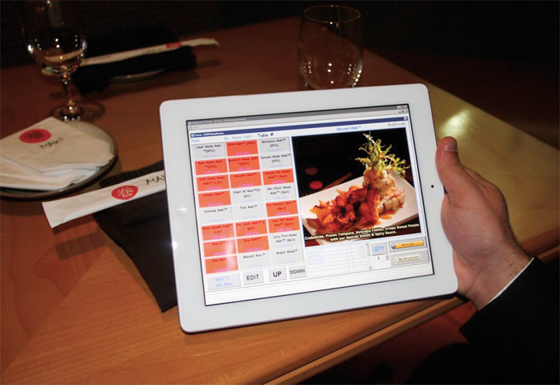 Maki favours the use of an iPad menu which customers can order through.