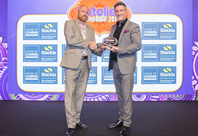 Reports, Atlantis the palm, Anthony Lynsdale, Hotelier middle east awards, It person of the year