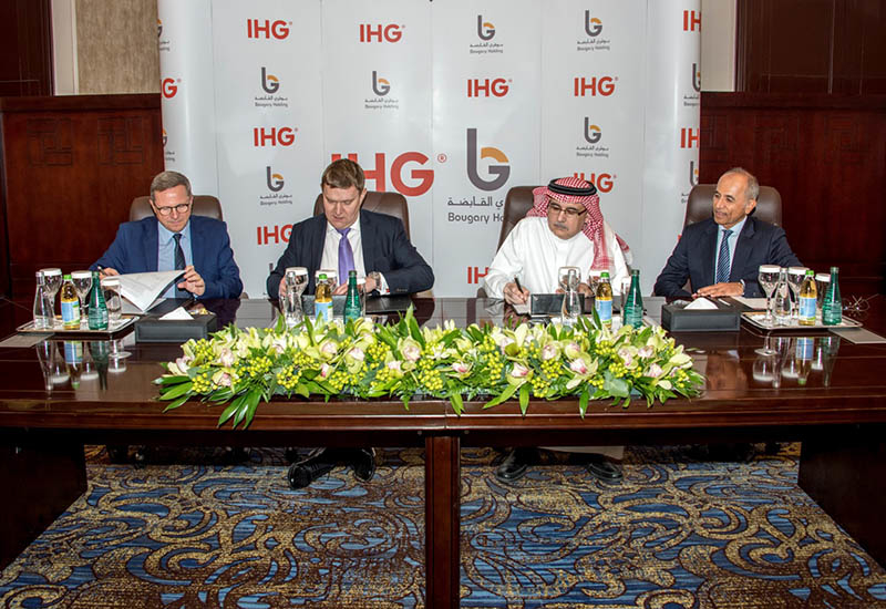 At the signing of the hotel.