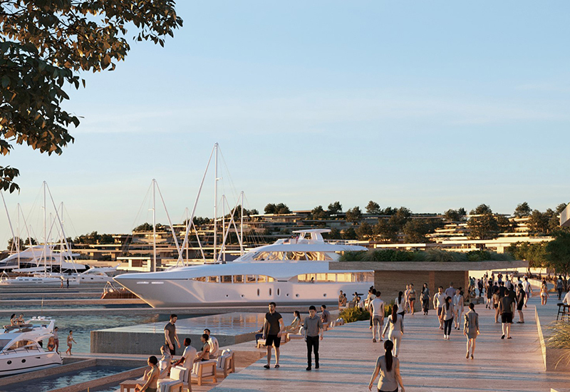 A view of what the marina will look like.