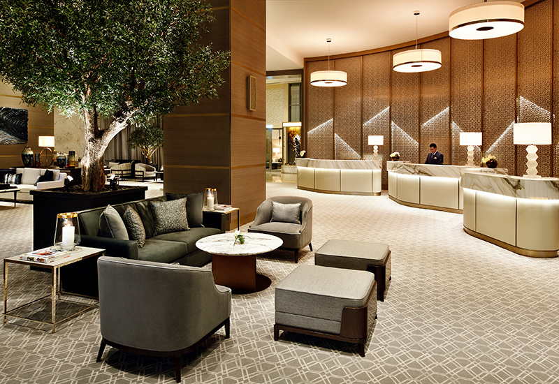 The lobby of the Address Dubai Mall.