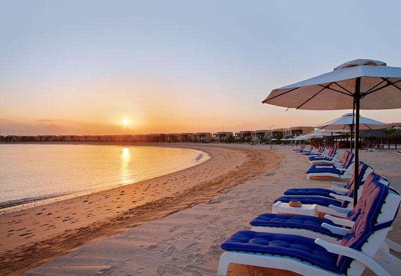 The beach at Waldorf Astoria Ras Al Khaimah.