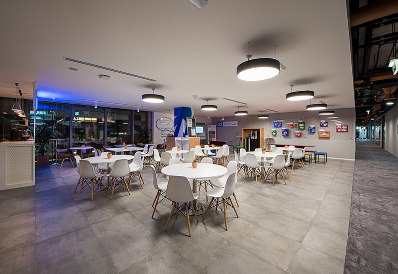 Student lounge at the new Dubai College of Tourism