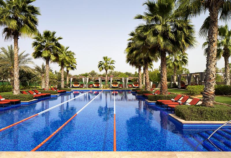 The lap pool at The Westin Abu Dhabi