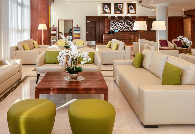 The lobby of the Hilton Garden Inn Al Jubail [(c] Hilton]