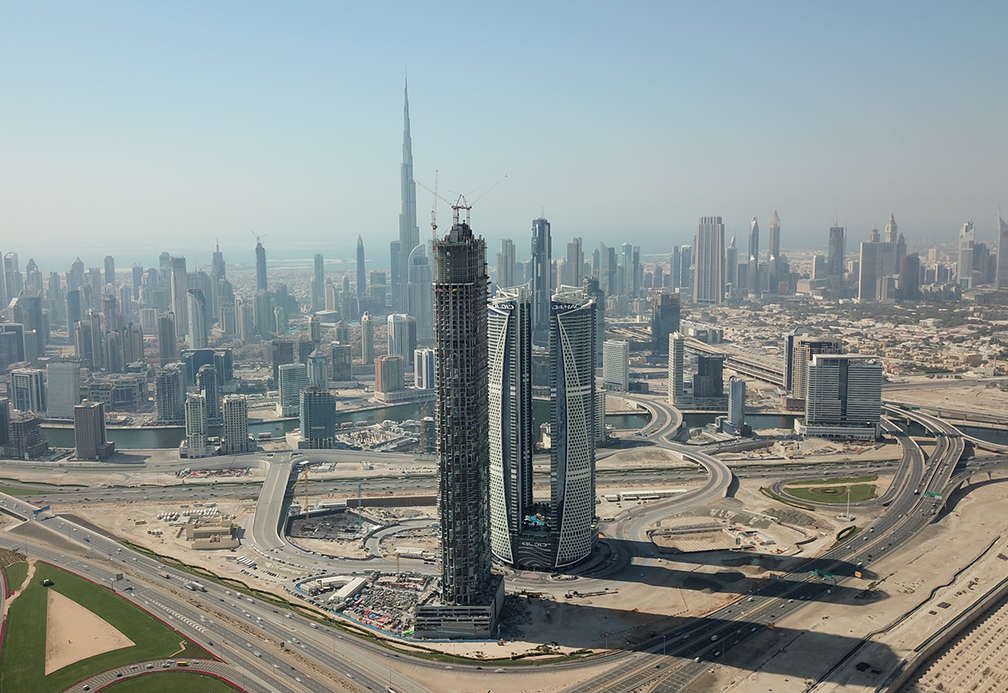 The SLS Dubai Hotel & Residences under construction in Buisness Bay