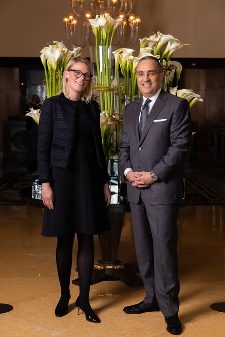 Hotel manager Cornelia Mitlmeier, and Rami Z. Sayess, regional vice president and general manager of Four Seasons Hotel Beirut