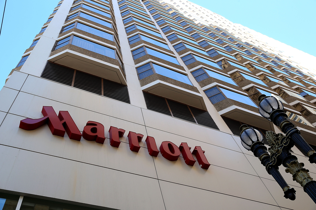 Marriott's reported net income saw a drop of US$116 million