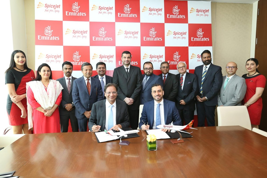 Emirates airline, India, Uae, Spicejet