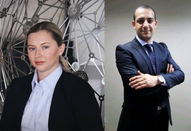 Iryna Klevetenko (left) and Taufik Ghafour