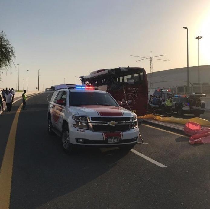 Passengers were taken to Rashid Hospital in Dubai