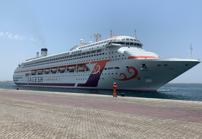 The Karnika cruise liner at Mina Rashid