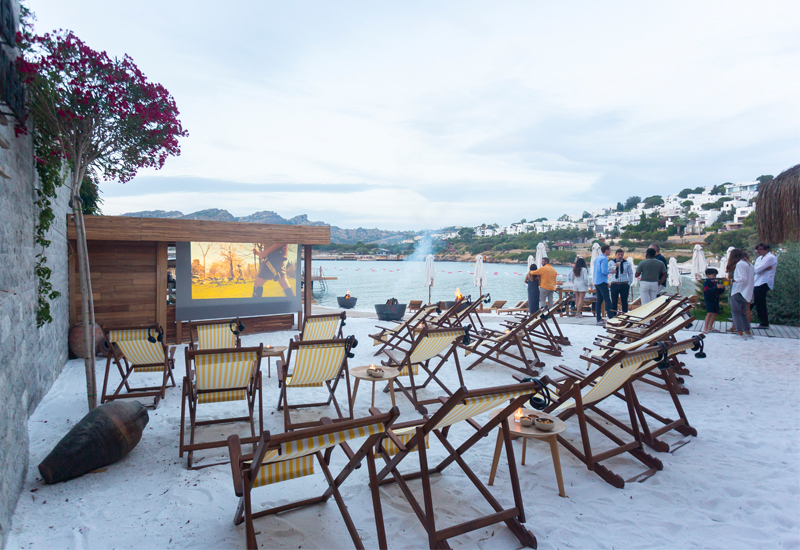 Bodrum Edition's cinema on the beach will begin from the 17 June 2019