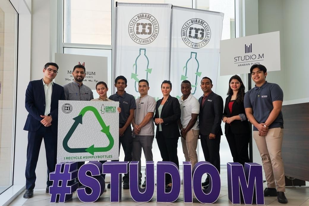 Studio M Arabian Plaza has partnered with DGrade on a plastic recycling initiative
