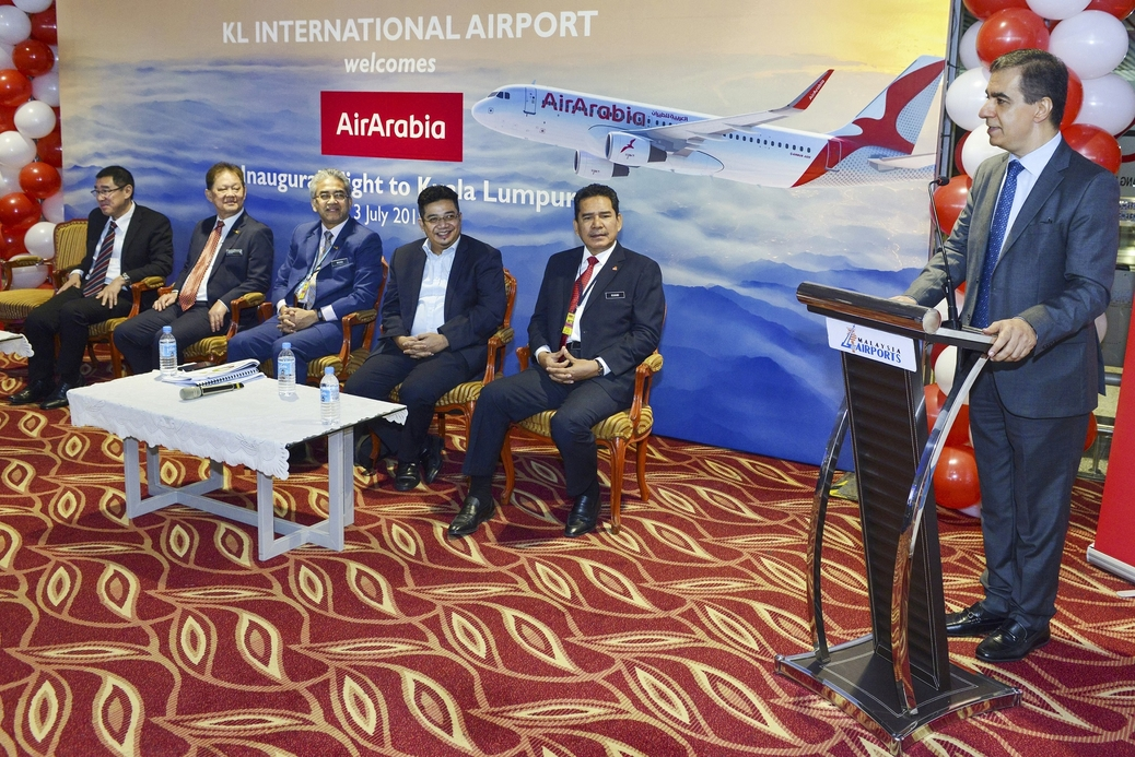 The inaugural flight landed at KL International Airport at 08:50am local time and was received by an official delegation