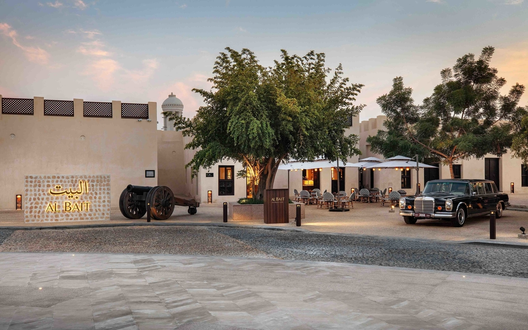 The 53-key property features traditional Arabic design and architecture