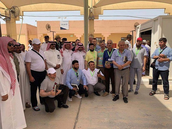 Al-Batha Border Port between Saudi Arabia and the UAE has received the first group of pilgrims coming from Russia