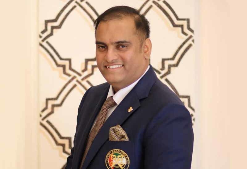 Abey Sam the chief concierge at JW Marriott Marquis and the national president of Les Clefs d'Or UAE