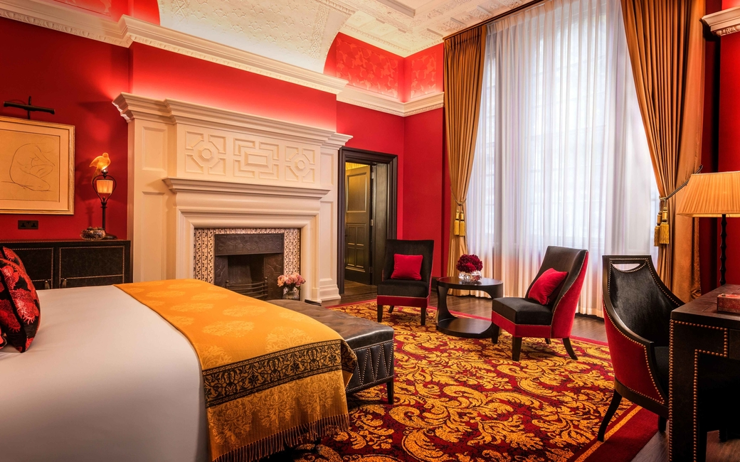 A tribute to Oscar Wilde and Oscar ceremonies, L'oscar is one of London's boutique hotels, with theatrical interiors by famed designer Jacques Garcia