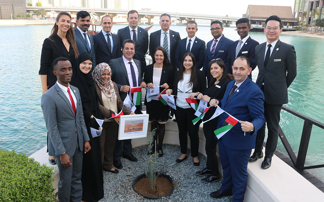 """Staff members took part in the """"Give a Ghaf"""" initiative"""