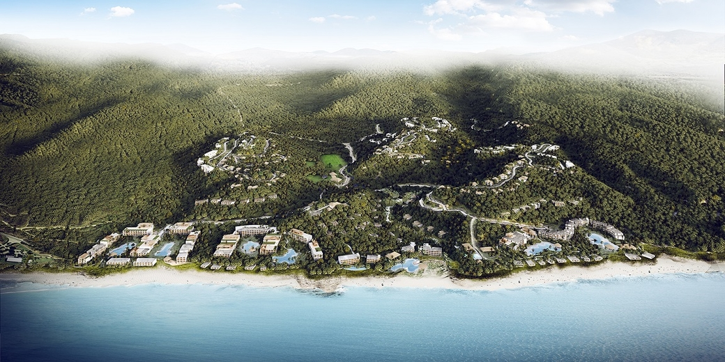 A rendering of Nia, the planned all-inclusive destination with four Marriott International brands including The Ritz-Carlton and Westin Hotels. It is set to rise in Riviera Nayarit on Mexico's West coast.