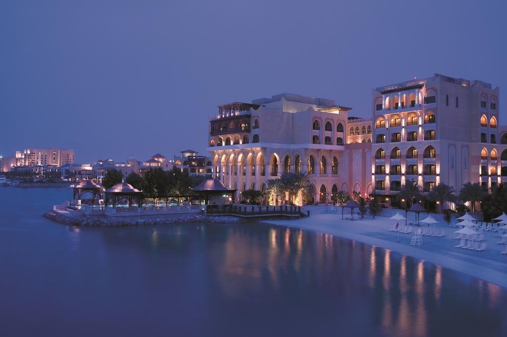 Panoramic view of Shangri-La Hotel, Qaryat Al Beri, Abu Dhabi.
