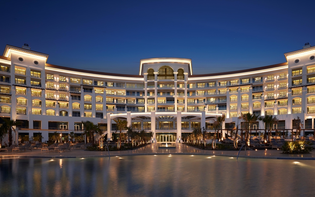 Accommodation feature guest rooms and suites with sea and Palm Jumeirah views