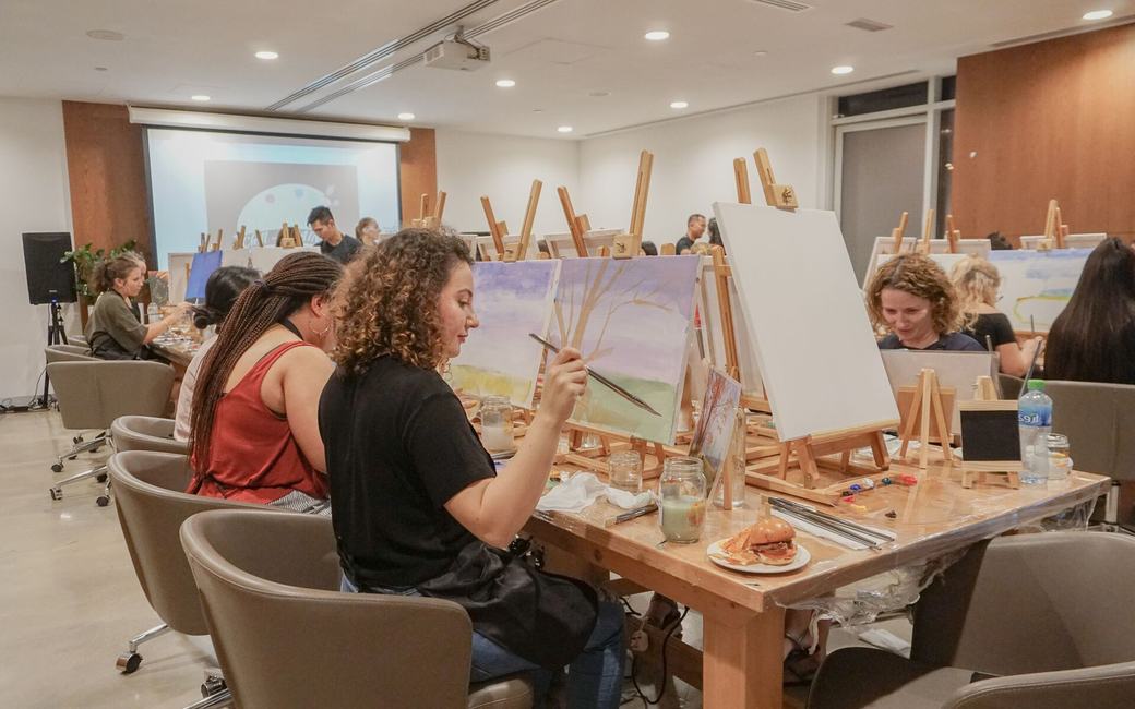 Paint sessions at TRYP by Wyndham Dubai