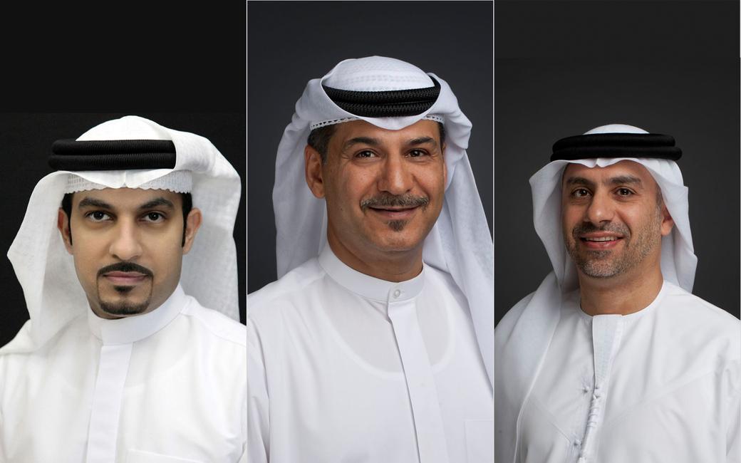 Sheikh Majid Al Mualla, Adel Al Redha and Adnan Kazim