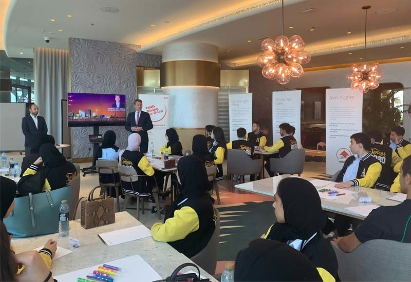 Students also got to interact with IHG personnel within the hotel and the corporate office
