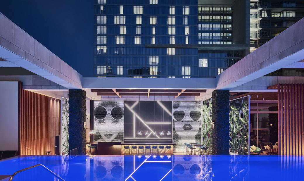 St. Trop is on the 18th floor of Waldorf Astoria DIFC.