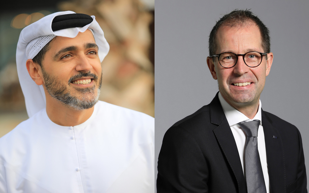 Issam Kazim, CEO of Dubai Corporation for Tourism and Commerce Marketing andSteen Jakobsen, DBE's assistant vice president
