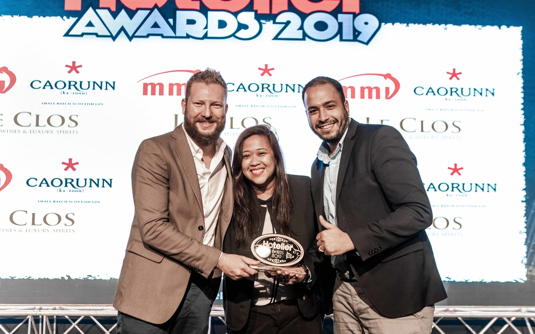 The winner of the Mid-Market Hotel Team of the Year award went to the team from Rove Hotels, Downtown Dubai