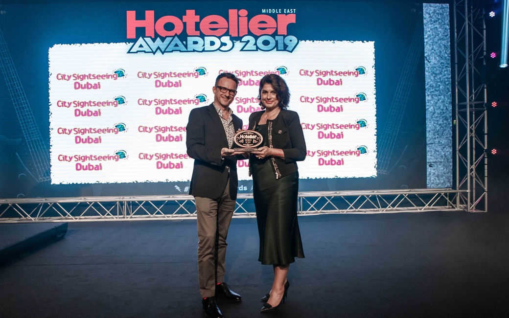 This year, Mohammad Al Khsabah from Movenpick Resort Petra picks up the Concierge/Guest Services Person of the Year award. Unfortunately he wasn't there to receive his award so his team picked it up for him