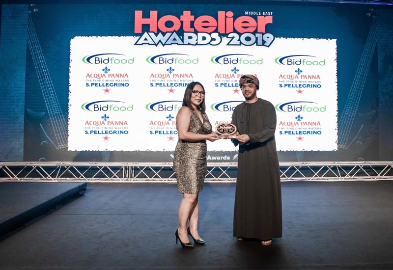 The Unsung Hero of the Year award went to Monirul Islam from Al Bustan Palace, Oman. Unfortunately he wasn't there to receive his award so his team picked it up for him