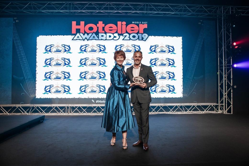 Daniel Follett at the Hotelier Awards 2019