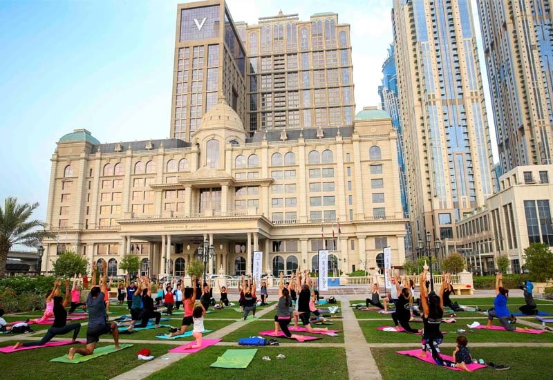 Habtoor Palace Dubai, LXR Hotels & Resorts, will mark Dubai Fitness Challenge by hosting a complimentary Vinyasa Yoga class