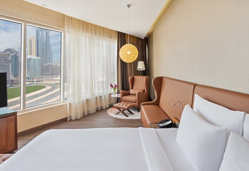In addition to the spa services, Radisson Blu Hotel, Dubai Canal View has a fully-equipped gym and outdoor pool