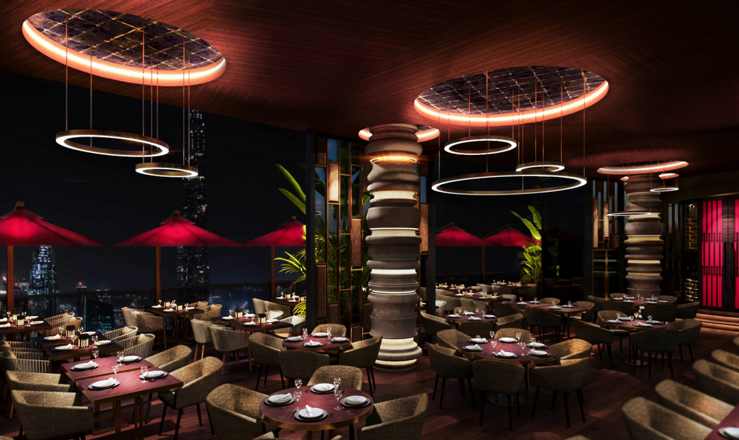 To be located at the newly opened Address Sky View in Downtown Dubai, Cé La Vi will offer a restaurant, sky bar, club lounge, and pool deck with infinity pool overlooking Burj Khalifa