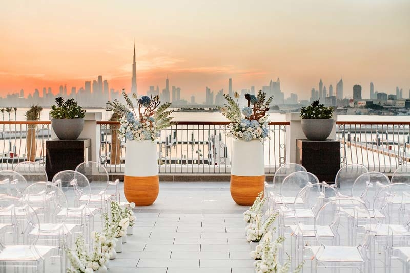 With the wedding package comes a complimentary one-night say in one of the hotel's rooms, along with a 24-hour concierge service