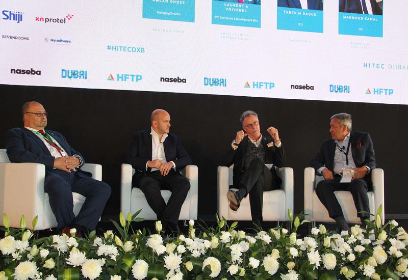 (L-R) Mahmoud Kamal, Tarek M. Daouk, Laurent A. Voivenel, Amlan Ghose