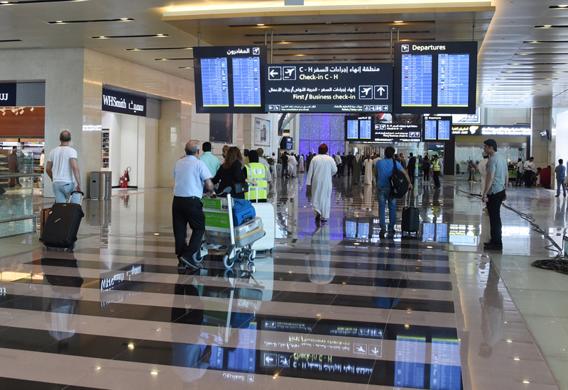 The airport suspended flight operations after officials spotted a drone flying over the airport. Image: ONA