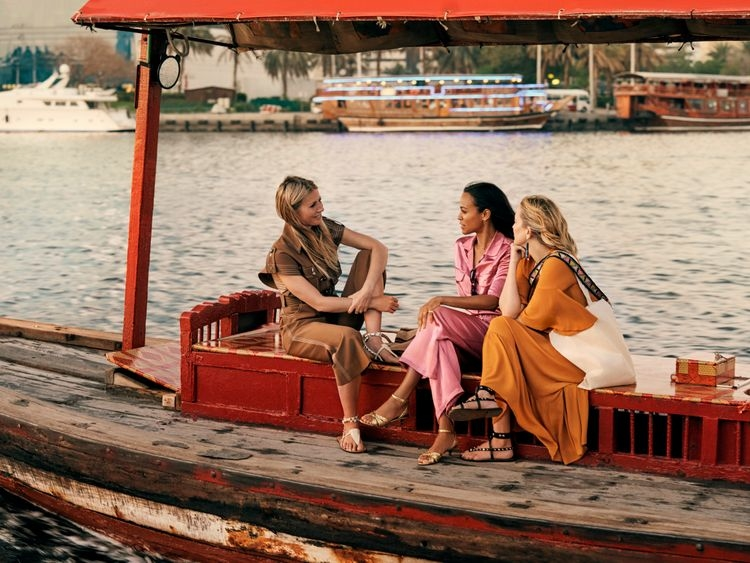 """Filmed by Emmy and Director's Guild award-winning director, Reed Morano, it """"captures the essence of each actress and the intimate relationships between them, while capturing the beauty of Dubai"""""""