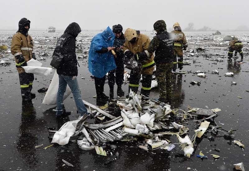 Image of the wreckage of the Boeing 737-800 which crashed in Russia. Image: File