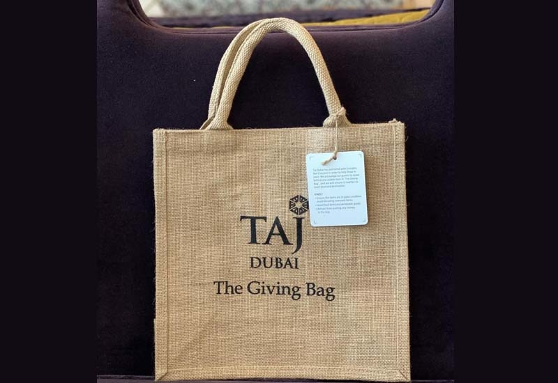 At the end of every month, The Taj Dubai staff will compile the items and donate these to the Emirates Red Crescent