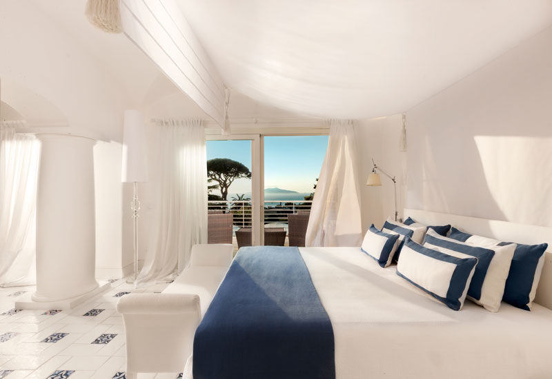 Featuring 68 guest rooms, the property is designed in the style of an 18th century Neapolitan palazzo