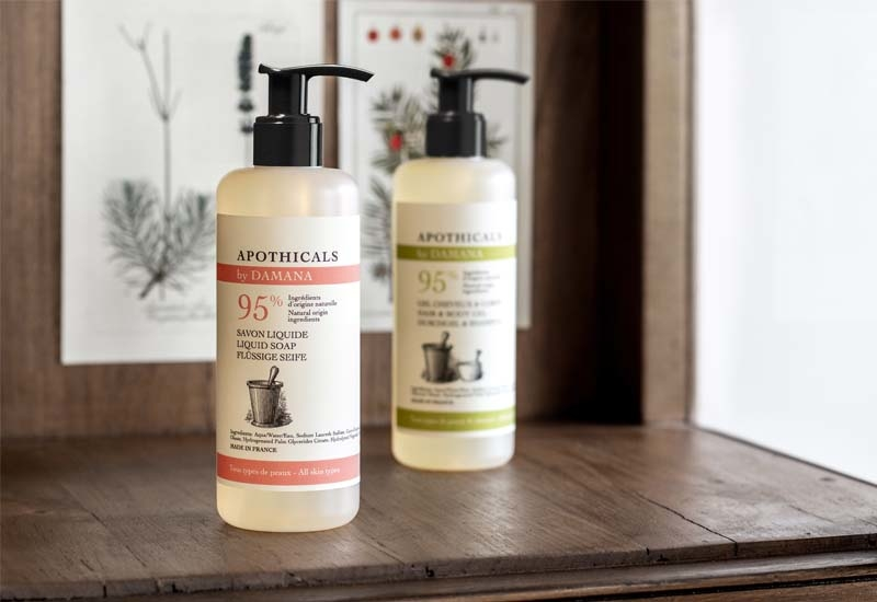 Inspired by the apothecary tradition and created with up to 98% of natural origin ingredients, the Apothicals by DAMANA line evokes the traditional craftsmanship of herbalists and has been created with hotel guests' comfort in mind