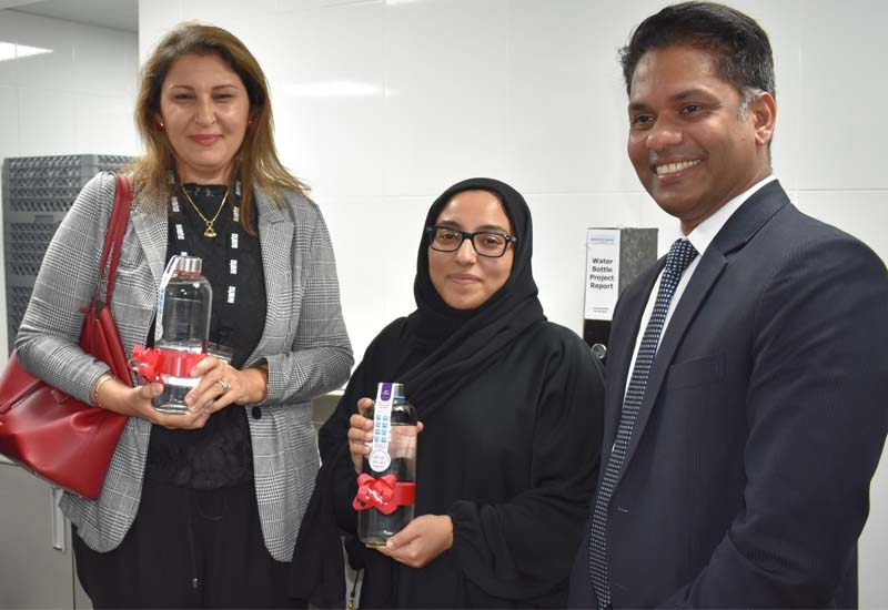 The sustainability campaign was officially inaugurated by Dubai Sustainable Tourism, an initiative led by Dubai's Department of Tourism and Commerce Marketing (Dubai Tourism), Dubai Municipality representatives Amal Salem Albedwai, head of drinking water control unit and Maythaa Abdulla AlHamidh, food health inspection officer, and Naseer Thodi, general manager at the hotel