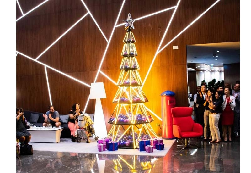 The hotel conducted a tree lighting ceremony earlier this month, welcoming hotel guests and visitors to get into the festive spirit