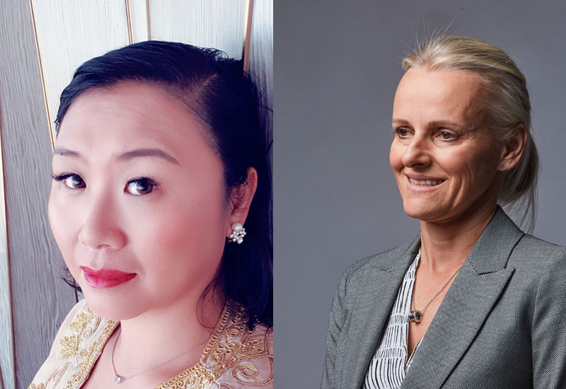 (Left to right) Peggy Li & Alison Grinnell